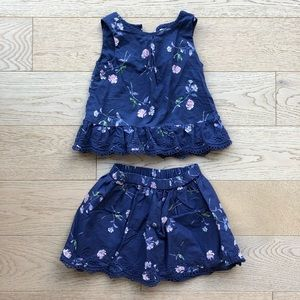 GAP Kids Two-Piece Skirt Set